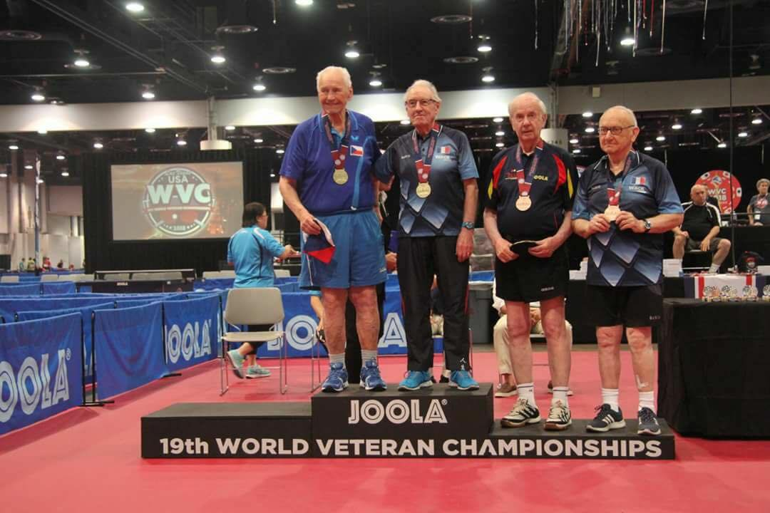 Champion du monde 93 ans 4s tours tennis de table - Tennis de table championnat du monde ...